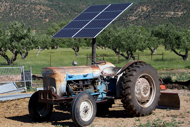 Solar Power and Tractor