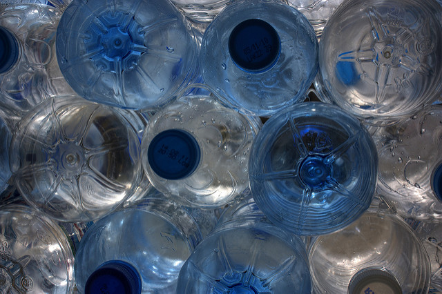 Plastic water bottles